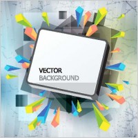 Link toGorgeous threedimensional vector illustration background 1