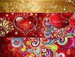 Link toGorgeous valentine's patterns vector