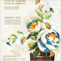 Link toGouache flowers 03 vector