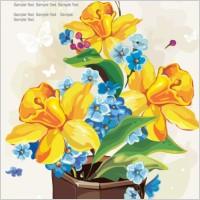 Link toGouache flowers 04 vector
