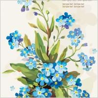 Link toGouache flowers 05 vector