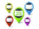 Link toGps navigation icons vector
