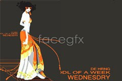 Link tovector beautiful fashion Graceful