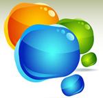 Link toGradient color bubbles vector