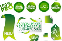 Link toGradient green sale tag vector