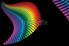 Link tovector background dots color changing Gradually