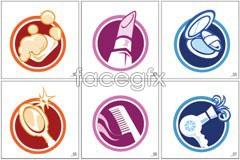 Graphic cosmetics korea vector icons