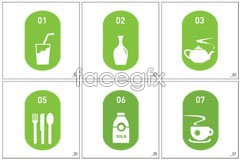 Link toGraphic dining and food vector icons