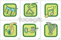Link toicons vector instruments musical various of Graphic