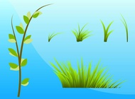 Link toGrass and plants vector free