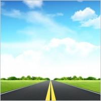 Link toGrass sky road psd