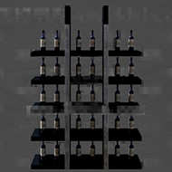 Link toGray and black unique wine cabinet 3d model