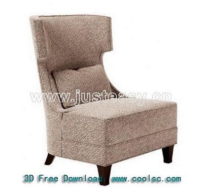 Link toGray high back sofa 3d model (including materials)