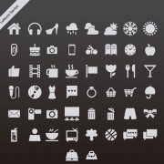 Link toGray leisure series vector icons free