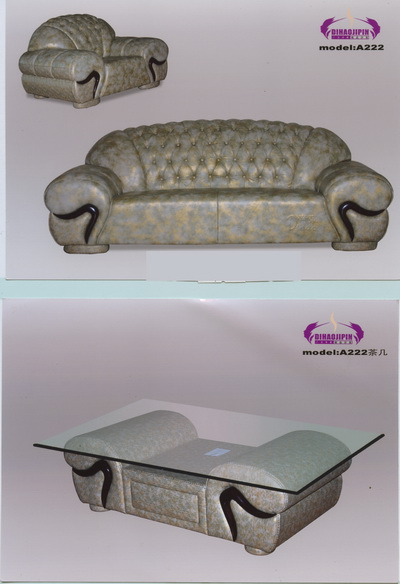 Link toGray pattern sofa and coffee table home 3d model