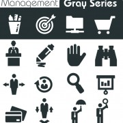 Gray series social icons vector set 02 free
