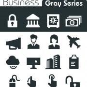 Gray series social icons vector set 04 free