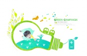 Link toGreen abstract poster template source files