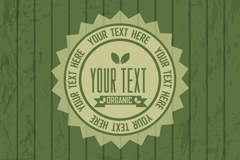 Link toGreen and organic products badge background vector