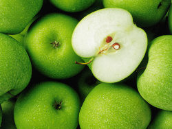 Link toGreen apple background picture material