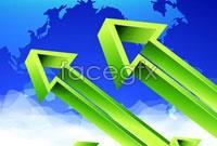 Link toGreen arrow business poster vector