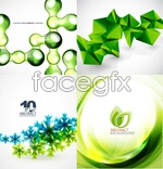 Link toGreen background theme vector