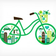 Link toGreen bicycle and city vector free