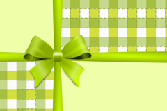 Link toGreen bow plaid background vector