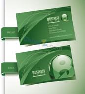 Link toGreen business card vector