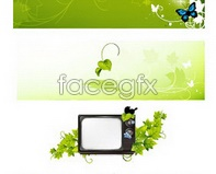 Link tovector ivy tv butterfly Green