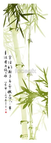 Link toGreen chinese style bamboo psd