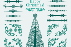 Link toGreen christmas tree pattern and lace vector
