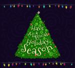 Link toGreen christmas tree vector