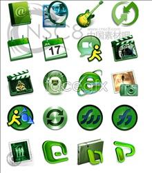 Link toGreen computer desktop icons
