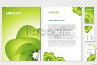 Link toGreen cool abstract pattern enterprise vi design vector