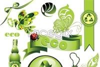 Link toGreen creative icon vector