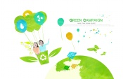 Link toGreen creative psd source file footage