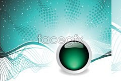 Link tovector background mesh movement and ball crystal Green