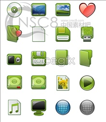 Link toGreen crystal cartoon icons