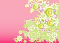 Link toGreen decorative flowers vector free