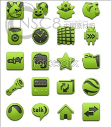 Link toGreen design desktop icons