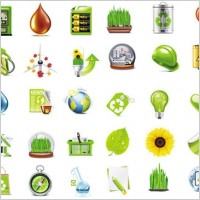 Link toGreen detailed vector icons