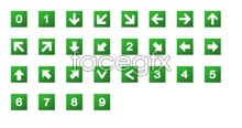 Link toGreen digital arrow icons