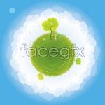 Link toGreen earth illustration vector