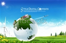 Link toGreen earth psd free