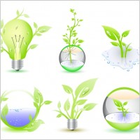 Link toGreen eco icon collection