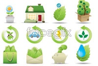 Link toGreen eco icon vector ii