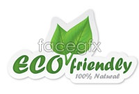 Green eco-logo design vector