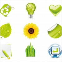 Link toGreen eco vector icons