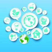 Link toGreen ecology concept paper vector 02 free